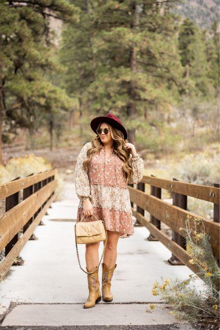 curvy fall western style! wearing size xl in my floral dress   #LTKcurves #LTKSeasonal