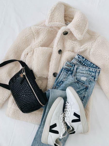 Sometimes it's as simple as adding a teddy jacket 🧸  #LTKshoecrush
