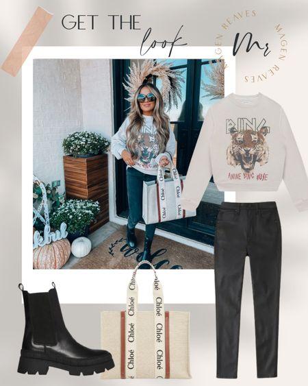 Fall look fall style fall outfit idea fall sweatshirt tiger sweatshirt skinny jeans anine bing sweatshirt http://liketk.it/3olz5 @liketoknow.it #liketkit #LTKunder100