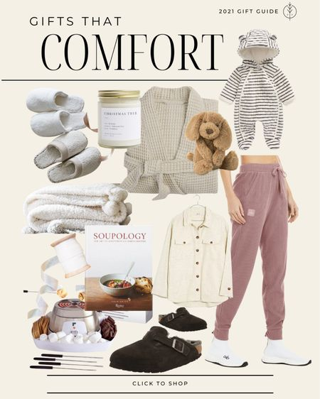 Cozy gifts that comfort 🤍 slippers, robe, candle, baby outfit, clogs and more.   #LTKunder50 #LTKunder100 #LTKGiftGuide