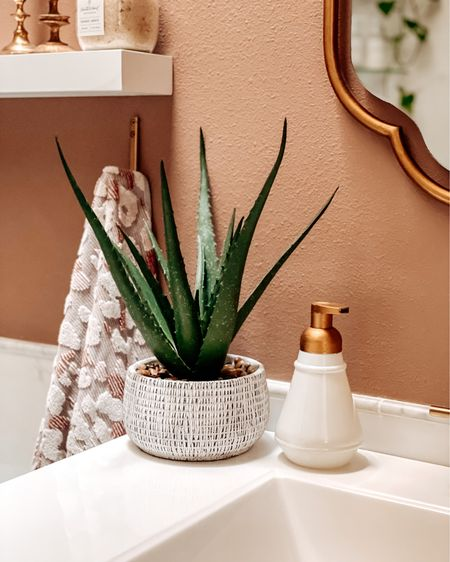 Revamped this clearance find (soap dispenser) to match all the gold touches! A little Rub-n-Buff and it's perfect!    http://liketk.it/38aGt #liketkit @liketoknow.it #LTKhome @liketoknow.it.home