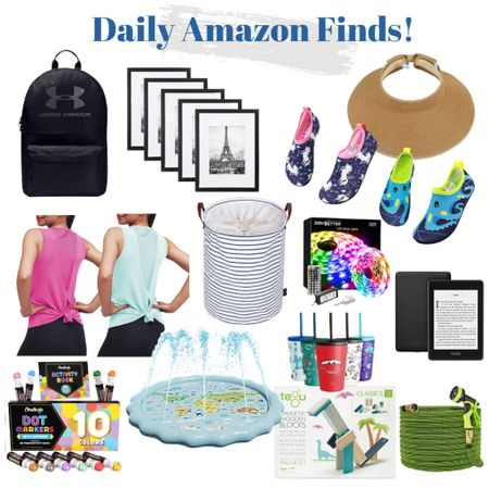 Shop Amazon deals of the day to save you money on the things you need + love! I have and love the sun visor, striped basket and Kindle Paperwhite!   Under Armour backpacks, workout tanks, kids cups, LED lights, frames, water shoes, kiddie pool, arts and crafts   #LTKfamily #LTKunder50 #LTKworkwear