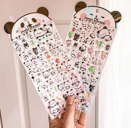We are obsessed with puffy stickers over here. 🤣 Olivia loves playing with stickers and these cute little chubby stickers are so easy for her to peel off. 🥰 These are so fun and cute. It comes with 4 pages of lawsuits panda fun. These would make a great stocking stuffer!   #LTKkids #LTKgiftspo
