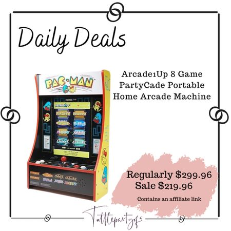 Arcade1Up 8 Game PartyCade Portable Home Arcade Machine    #LTKHoliday #LTKfamily #LTKsalealert