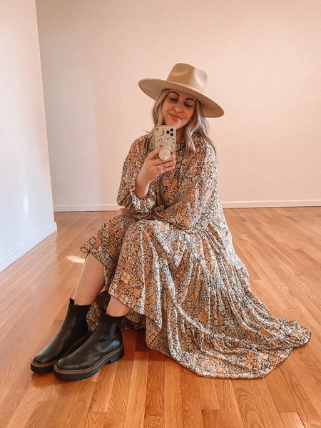 Free people dress (S). Size up 1/2 size in boots.