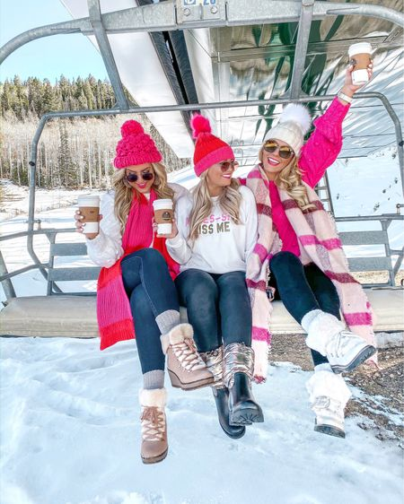 """Definitely know this hotel has bets on how many time these """"3 blogger girls"""" are going to change today 🤦🏼♀️😂 Answer: 7 times each #nailedit 😉 Also swipe 👉🏻 to what 3 bloggers and a tripod can pull off!! Never a dull moment with this group! Also our hats & scarves are ALL UNDER $10!! Linking everything in our stories and thought the @liketoknow.it app!  #LTKunder100 #LTKunder50 #LTKsalealert #LTKstyletip #LTKholidaygiftguide #liketkit #LTKholidaystyle http://liketk.it/2GGru"""