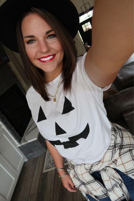 Jack-o-lantern shirt. Halloween outfit.   #LTKunder50 #LTKstyletip #LTKSeasonal