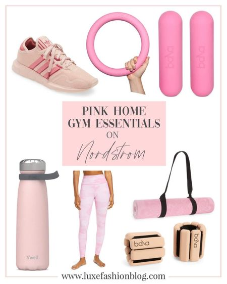 Pink Home Gym Essentials On Nordstrom http://liketk.it/3frzg #liketkit #LTKbeauty #LTKworkwear #LTKfit @liketoknow.it