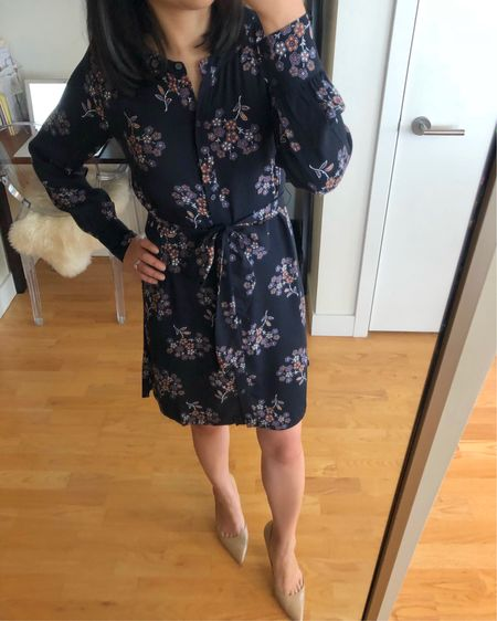 """Size XXSP fits like size XSP or even size XXS regular due to the longer overall length. I'm 5' 2.5"""". Use code LOFTCASH on top of today's $49.50 dresses to save an extra $25 off your full price promotional purchase of $50+. @liketoknow.it http://liketk.it/2xv9r #liketkit #LTKsalealert #LTKunder100 #LTKunder50"""