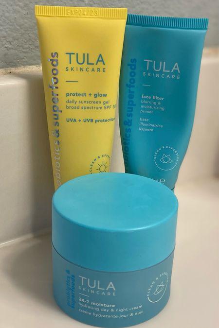 Must have skincare products from Tula. Skin care. Primer. Sunscreen. Moisturizer. Tula skincare.   #LTKbeauty