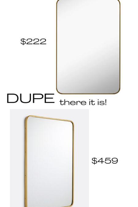 Vanity mirror, large mirror, brass mirror, gold mirror, 24x36 mirror   #LTKhome