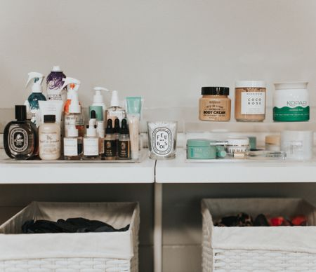 Go-to products. Skincare shelf. Container store organizer. Herbivore products. Kopari products. Rebecca Piersol favorite products. Use code REBECCA15 for 15% off Tula.   #LTKhome #LTKbeauty #LTKunder100