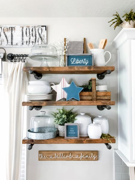 Open Kitchen Shelving is so fun to decorate! Grab these deals that are staples to my pipe shelves. #ltkseasonal #competition   Want to make your own? It is so easy! Head to my blog to learn how! www.citygirlmeetsfarmboy.com  Use code CITYGIRL at Krumpetshome.com for a discount on their decorations. Happy Shopping!!    http://liketk.it/3gxwF #liketkit @liketoknow.it #LTKDay #LTKhome #LTKsalealert @liketoknow.it.home Shop your screenshot of this pic with the LIKEtoKNOW.it shopping app