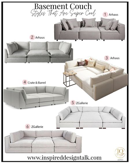 Awesome pit sectional couch ideas to update your living room decor. These are the most comfortable sofas ever!  Home decor, living room inspiration, pit sofa, sectional sofa, living room furniture, basement, family room, fall home decor, Arhaus, crate & barrel, z galleries  Follow me on the LIKEtoKNOW.it app for more furniture and home decor inspiration.    #LTKstyletip #LTKhome #LTKfamily