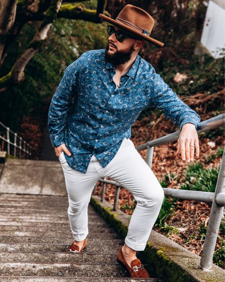 The perfect casual spring look for men.  http://liketk.it/39K9O #liketkit @liketoknow.it #LTKmens #LTKunder100 #LTKstyletip   Summer looks, spring looks, men's fashion, TopMan, Fedora, man casual looks, workwear for me, men's style.