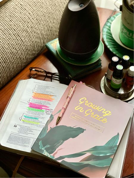 So enjoying this new Bible study each morning! I make some coffee, turn on the diffuser with my favorite essential oils morning blend and settle in for some time with my Bible. Love starting my days this way! #Bible #Biblestudy #morning #morningroutine   #LTKunder50 #LTKhome