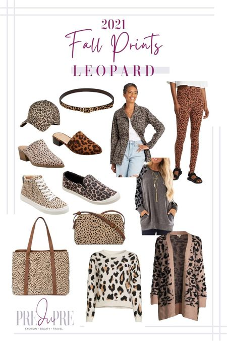 Fall prints that are in style this season. Fall doesn't just mean solid and texture pieces, but fun colorful prints too. Read more about the prints in style at my blog www.predupre.com  http://liketk.it/3mRDq  leopard print, leopard jacket, leopard leggings, leopard sweater, leopard cardigan, jacket, leggings, sweater, cardigan, accessories, leopard shoes, sneakers, mules, hat, bag, belt, fall outfit, fall clothing, fall staples   #LTKSeasonal #LTKstyletip