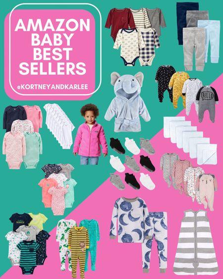 Amazon Baby Best Sellers!  Amazon baby favorites | amazon baby finds | Amazon baby onesie | Amazon baby clothes | amazon baby pjs | amazon baby robe | amazon baby must haves | amazon baby essentials | baby girl clothes | amazon baby girl clothes | amazon baby boy clothes | baby boy clothes | Kortney and Karlee | #kortneyandkarlee @liketoknow.it #liketkit   #LTKunder50 #LTKunder100 #LTKsalealert #LTKstyletip #LTKSeasonal #LTKkids #LTKfamily