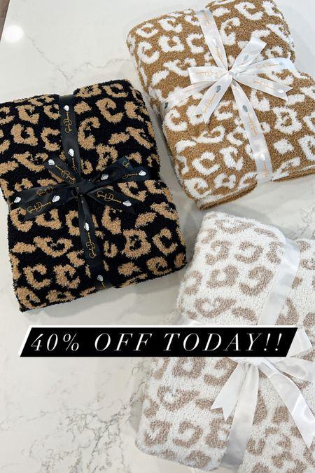 Leopard blanket. Barefoot Dreams dupe  #home #blanket #laurabeverlin  #LTKsalealert #LTKhome #LTKunder50