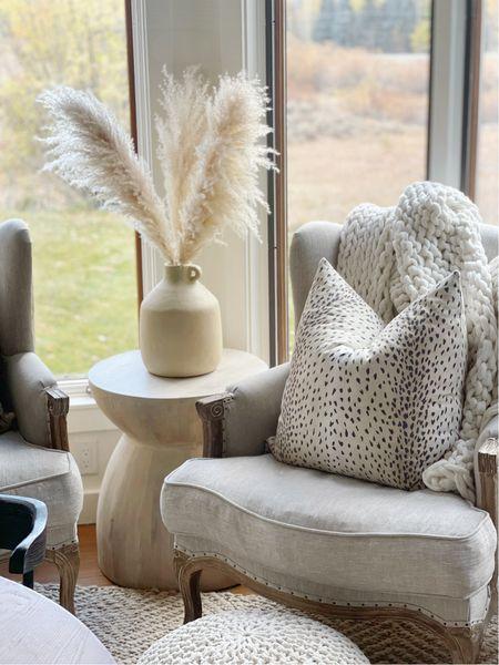 H O M E \ New drum side table!! She's a beaut🥰🥰  #sidetable #accentchair #endtable #livingroom #livingroomdecor #homedecor  #LTKSeasonal #LTKhome #LTKunder50