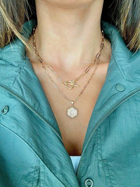 Obsessed with this necklace set!   #LTKworkwear #LTKunder50 #LTKstyletip