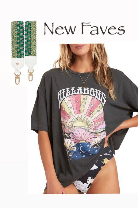 Women's billabong t-shirt tee Sunshine graphic tee  Keychain key ring lanyard  #LTKunder100 #LTKunder50 #LTKstyletip