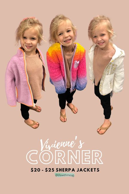 Kids sherpa jackets    #LTKGiftGuide #LTKfamily #LTKkids