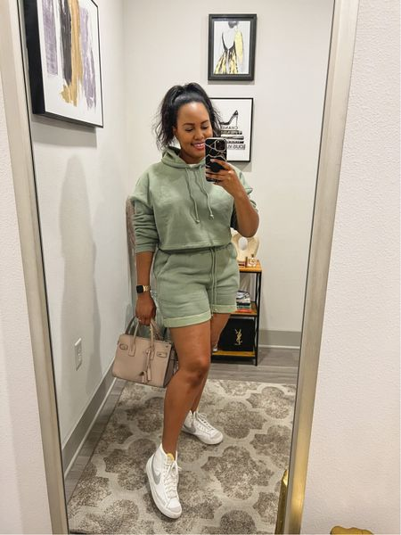 Keeping it comfy, but cute is a lifestyle right?! You can find options that you can either lounge around the house of run out for a quick errand.  You can style up your comfy items with a classic pair of Nike Blazers and a cute bag!!   #LTKitbag #LTKSeasonal #LTKsalealert