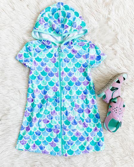 Wonder Nation girls terry cloth beach towel coverup, so soft and cute! Fits tts. http://liketk.it/3h8yz #liketkit @liketoknow.it #LTKswim #LTKkids #LTKunder50 #walmartkids #walmartfashion