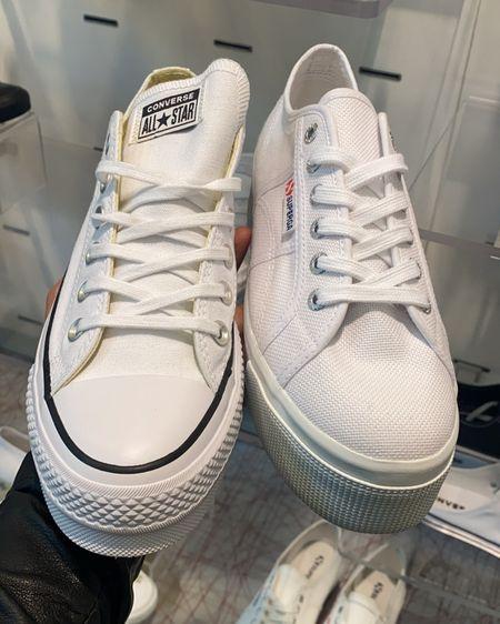 White Flatform Trainers http://liketk.it/3dcxH #liketkit @liketoknow.it  #converse #superga #flatform #trainers #sneakers #platforms