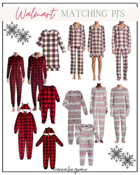 #walmartfashion holiday pajamas Walmart Matching Pajamas - Holiday Family Pjs   #LTKfamily #LTKSeasonal #LTKHoliday