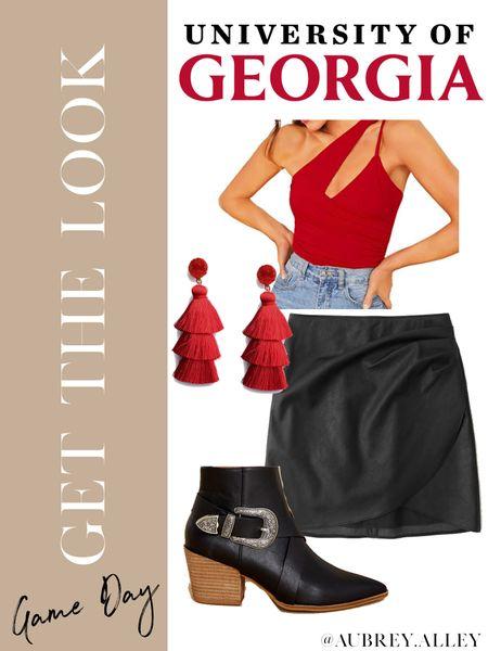 University of Georgia game day #ootd ♥️🖤  #LTKunder50 #LTKSeasonal #LTKunder100