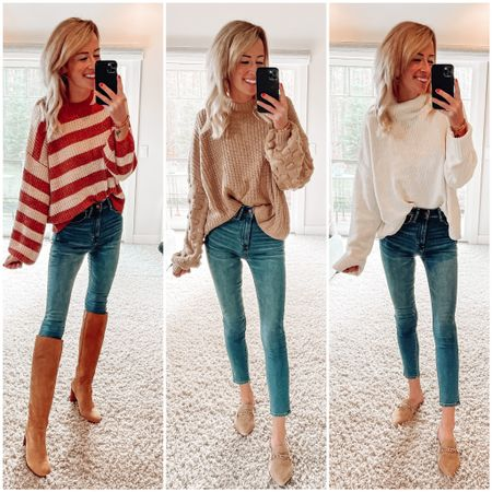 Pink lily haul Pink lily boutique code JENNAMADEMEDOIT to save 15% Sweaters Mules  Suede mules for fall Tall suede boots  Chenille sweaters for fall  Fall outfits    #LTKstyletip #LTKFall #LTKsalealert