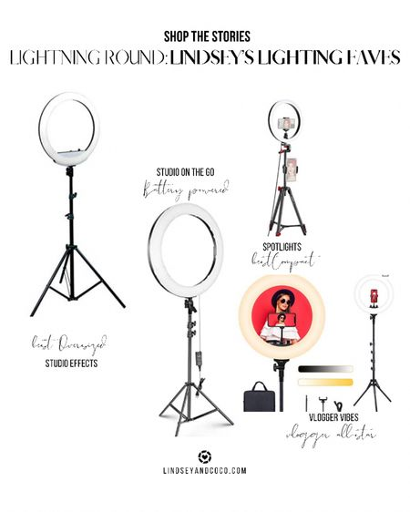 """Ring Lights Amazon Finds: Most Loved Ring Lights for Bloggers & Vloggers.  Best Oversized: Neewer 20"""" Best Compact: Neewer 10"""" Best Mobile Kit: Lume Cube Wireless Lighting Best Vlogger Vibes: ESDDI PLV-R432 18"""" (YouTube Favorite)  Shop this pic below. Follow @lindseyandcoco on @liketoknow.it to never miss a deal or a sale. So glad you are here! 💕   http://liketk.it/3h50T #LTKbeauty #LTKhome #LTKstyletip #liketkit"""
