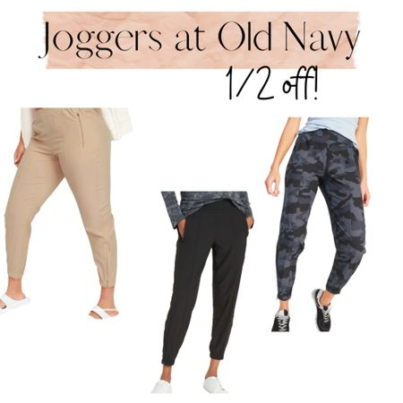 1/2 off EVERYTHING at Old Navy, today only.  These joggers are so good and only $17.50.  Perfect for spring.    Shop your screenshot of this pic with the LIKEtoKNOW.it shopping app http://liketk.it/3b5Pr #liketkit @liketoknow.it #LTKunder50 #LTKsalealert #LTKSpringSale