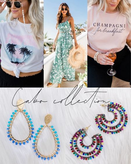 Build your Cabo Collection outfit from Pink Lily! These graphic tees, two piece sets, maxi dresses, sun hats, and earrings are perfect for your tropical getaway! Click here to shop Pink Lily now! http://liketk.it/39tvn #liketkit @liketoknow.it #LTKSeasonal #LTKstyletip #LTKtravel Follow me on the LIKEtoKNOW.it shopping app to get the product details for this look and others