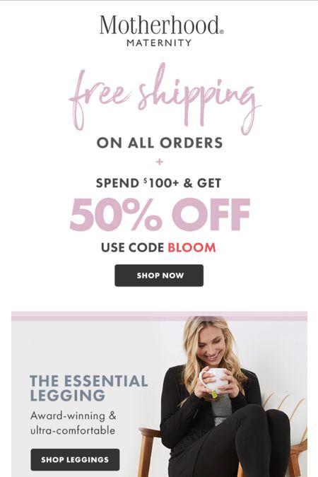 Killer sale for all my pregnant, nursing, and recently postpartum mamas!! 50% off $100 or more at Motherhood Maternity!   #LTKbump #LTKunder50 #LTKsalealert