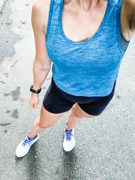 One of my Lululemon hacks is by men's tank tops and having them crapped in the store! I like the box of your foot and their patterns!!  #LTKstyletip