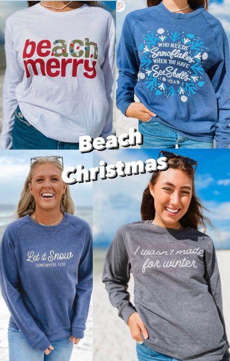 Beach Christmas Let it snow somewhere else Beach merry Snowflakes Seashells Florida Christmas  Christmas vacation  #LTKunder100 #LTKtravel #LTKHoliday