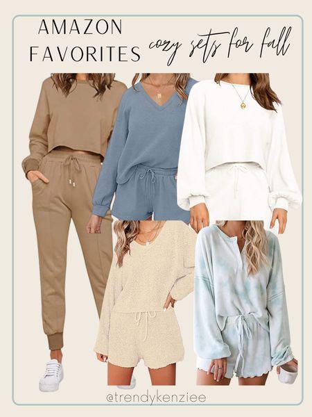Amazon cozy sets / amazon finds / amazon find / cream set / blue set / tie dye set / loungewear / amazon loungewear   #LTKunder100 #LTKfit