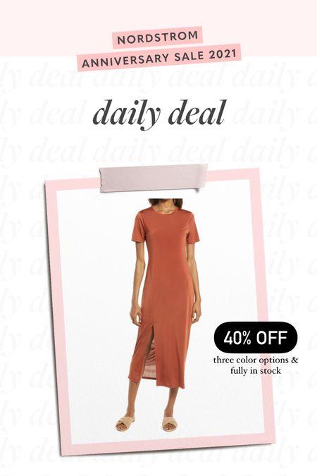 midi dress, dress with slit, everyday dress, summer dress, nsale, Nordstrom Sale //   #LTKsalealert #LTKunder100