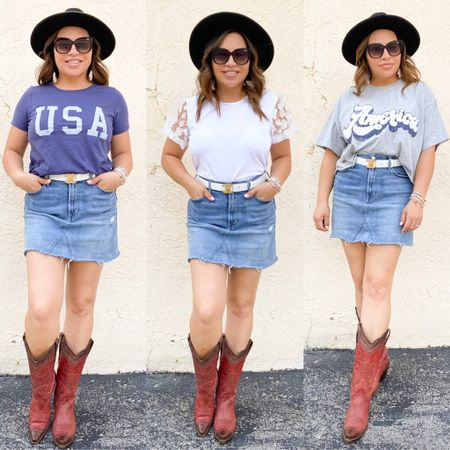 You can take a girl out Texas but you will never take Texas out of ME!!  I'm busting out my boots and serving up some more Memorial Day inspo!  Which is your fav?? .  Shop my daily looks by following me on the LIKEtoKNOW.it shopping app or my BLOG ➡️ ninamarieblogs.com http://liketk.it/3gfeF #liketkit @liketoknow.it