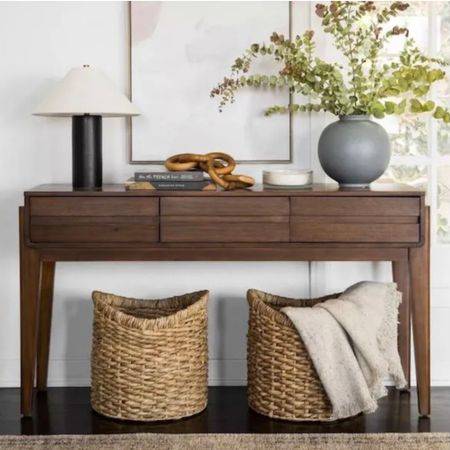 Favorites from the new Studio McGee collection for Target. Console table vase baskets lamp   #LTKunder50 #LTKunder100 #LTKhome