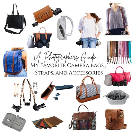 All of your camera needs and my favorites linked below! Photographer must haves | camera bags | camera straps | personalized   #LTKstyletip #LTKworkwear #LTKitbag