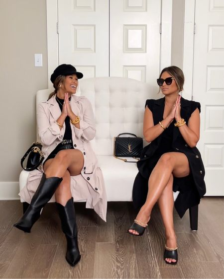 Have you shopped the @gibsonlook x @hauteofftherack collection yet? It's filled with fall staples and elevated basics like this padded shoulder black dress and sleeveless trench!  Dress sizing: size down in dresses! Wearing sz XXS! Trench coat Sizing: runs TTS— I'm wearing the XS in the sleeveless trench and the lightweight trench jacket. No stretch so runs TTS or size up.  … take 15% OFF with code: HAUTE15 You can also take 20% OFF my jewelry with code: HAUTE20 … #gibsonlookxhauteofftherack #gibsonlook #falloutfit #everydayoutfit #gucci #ltkunder100 #ltkstyletip   #LTKsalealert #LTKstyletip #LTKshoecrush