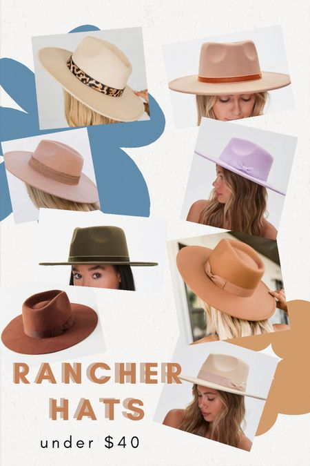 Rancher Hats. Easiest fall accessory. Saves a bad hair day too!   #LTKbeauty #LTKunder50 #LTKcurves