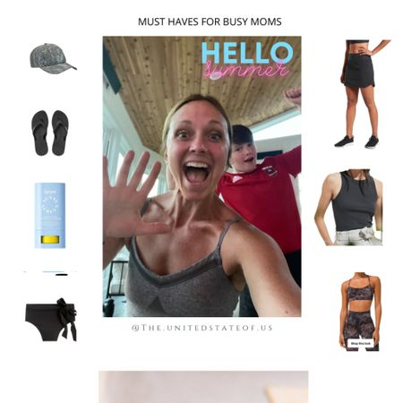 One thing I love to do, is share things I love with my family and friends. As a busy mom, I also love to know what is working for my friends and family, so I can get in on the action!! Here is the first round-up of items I'm obsessed with, this summer. This probably reveals how basic I am- but truthfully, it's the basics that help me to grab what I need and move on to enjoying time with our boys! Shop your screenshot of this pic with the LIKEtoKNOW.it shopping app #liketkit   The skort is my ride or die for golf with the kids, and warm soccer days. It's a new design this year and it's better than ever. Looking for a great sunscreen? This is the ONLY sunscreen that the kids and I don't break out from and actually works. And for the rest of the gear? Let's just say that the swimming suit bottom is hiding all I need it to, after I kick off my favorite flip-flops and change out of the best sports bra and tank, and my favorite summer hat. Like I said- basic, but the BEST!   So… link in bio for my @liketoknow.it link. All you have to do is download the app and follow me! Can't wait to see if you like these items as much as I do!!   http://liketk.it/3ikiS @liketoknow.it @liketoknow.it.family #LTKfamily #LTKsalealert #LTKswim