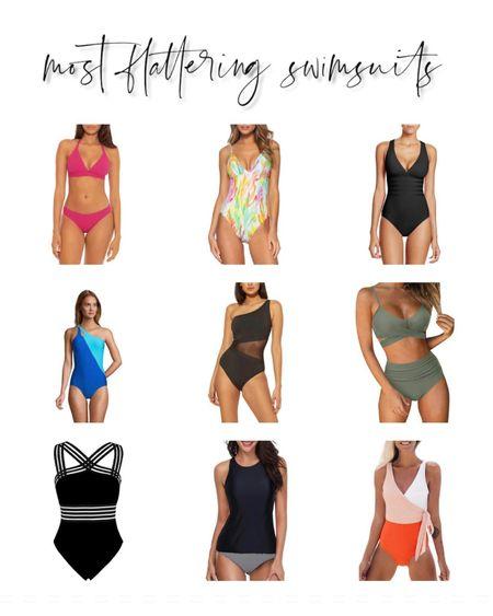 Bikini swimsuits flattering one pieces and tankinis bathing suits http://liketk.it/3gU9k #liketkit @liketoknow.it   #LTKswim #LTKstyletip #LTKunder100