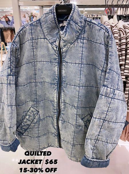Quilted jacket $65 & on sale for 15-30% off    #LTKunder50 #LTKsalealert