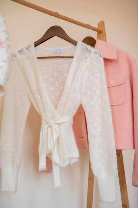 Alpaca blend wrap cardigan and pink wool jacket.   #LTKeurope #LTKSeasonal